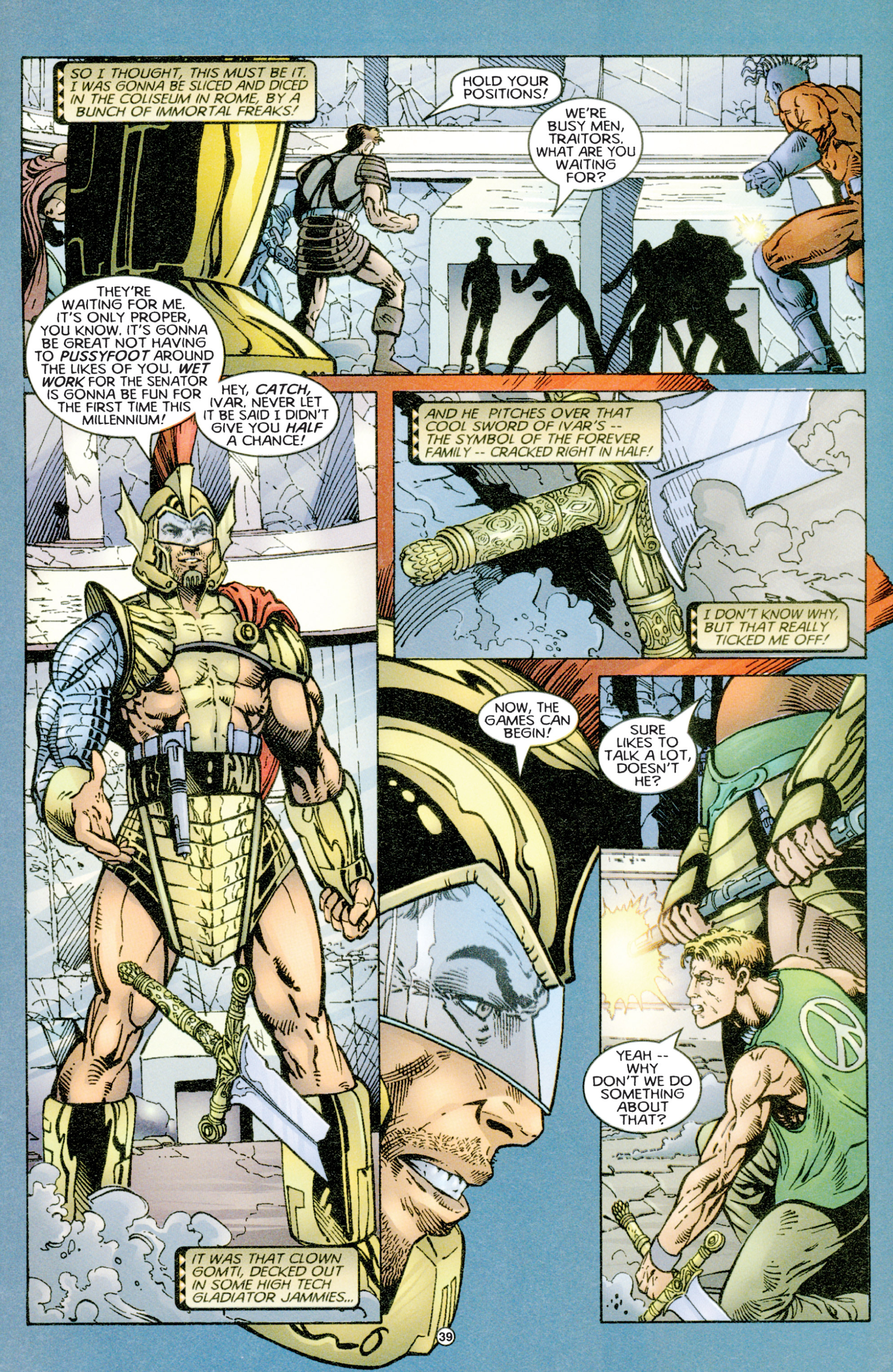 Read online Eternal Warriors comic -  Issue # Issue Time & Treachery - 38