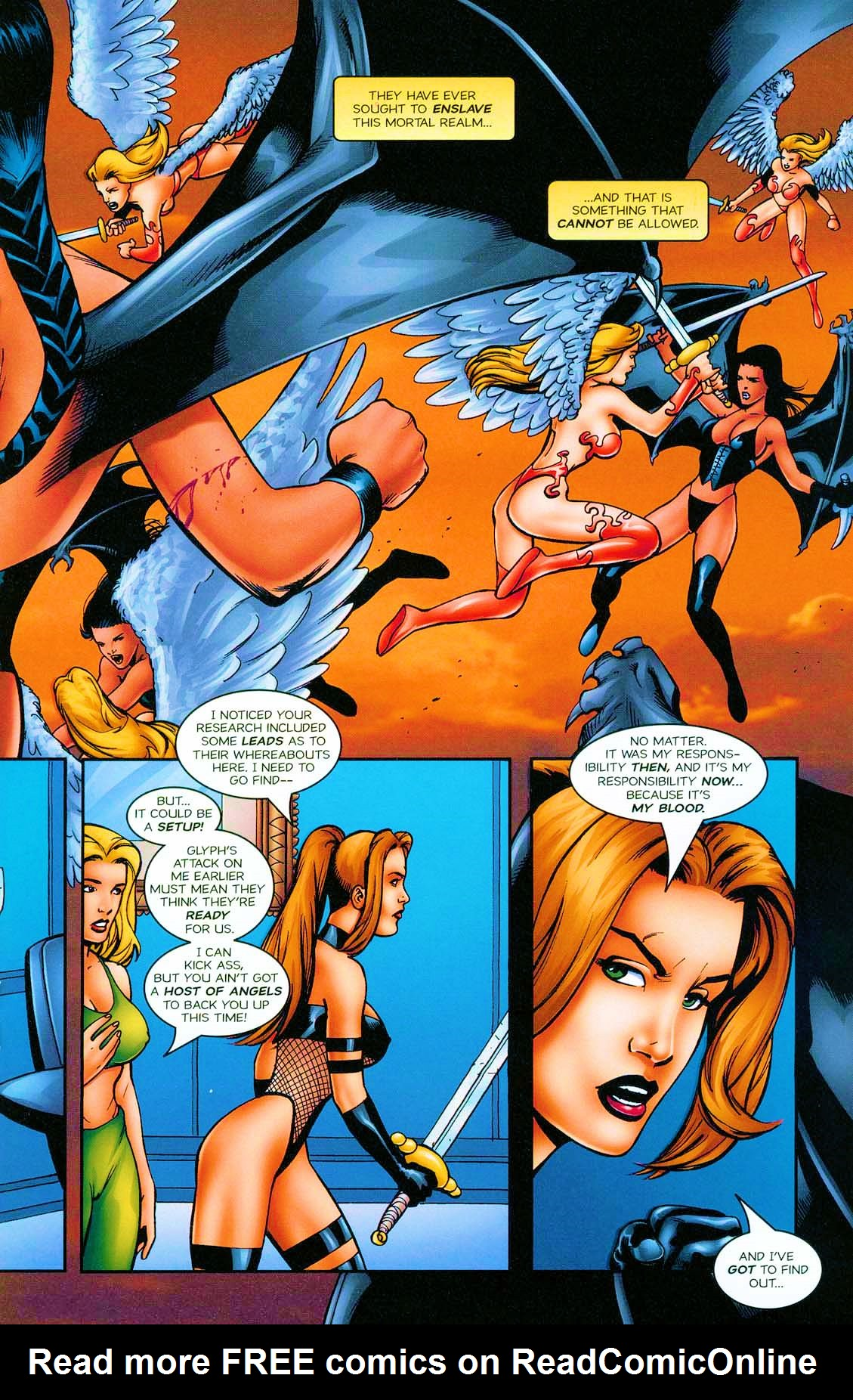 Read online Avengelyne: Bad Blood comic -  Issue #1 - 22