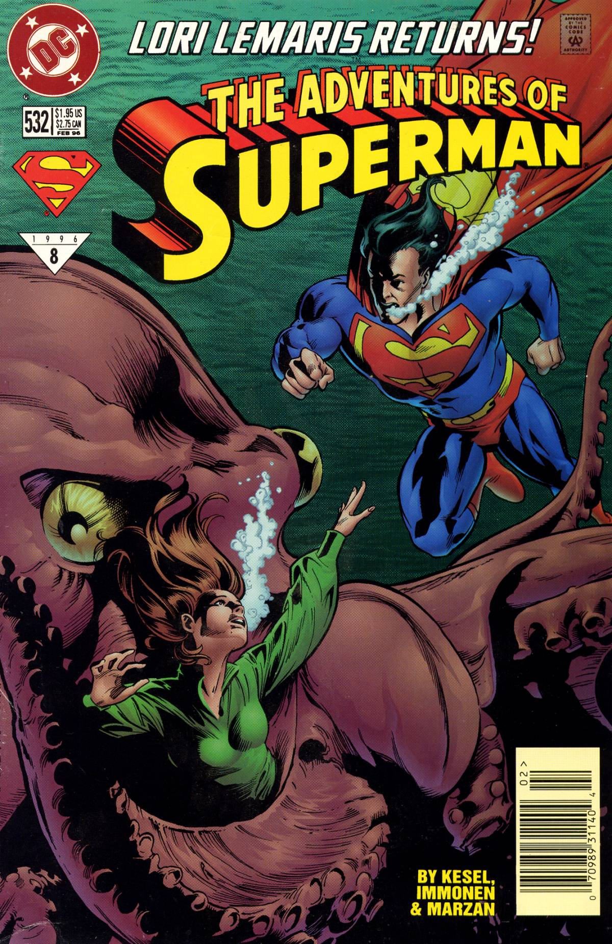 Read online Adventures of Superman (1987) comic -  Issue #532 - 1