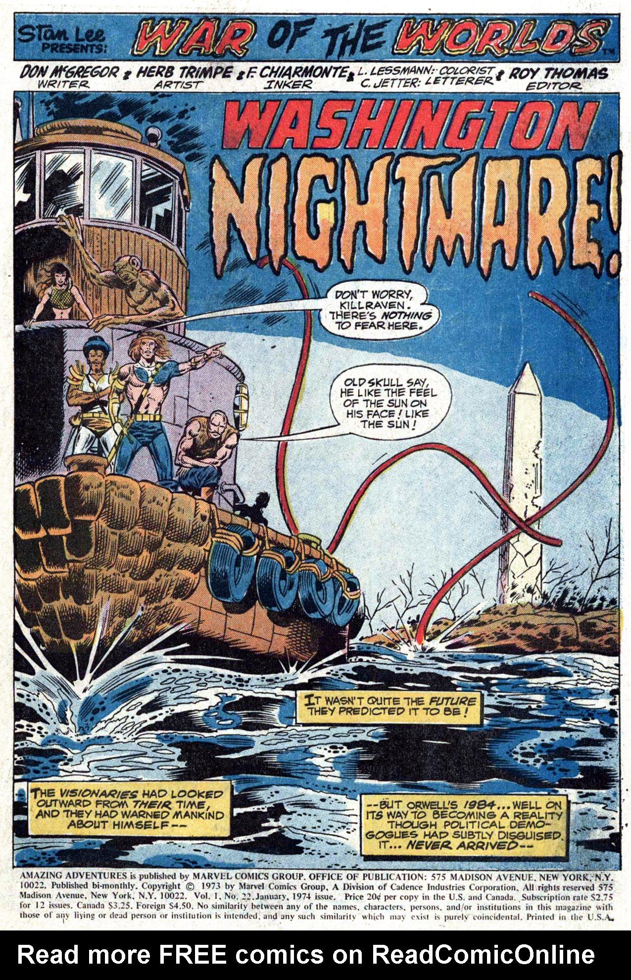 Read online Amazing Adventures (1970) comic -  Issue #22 - 3