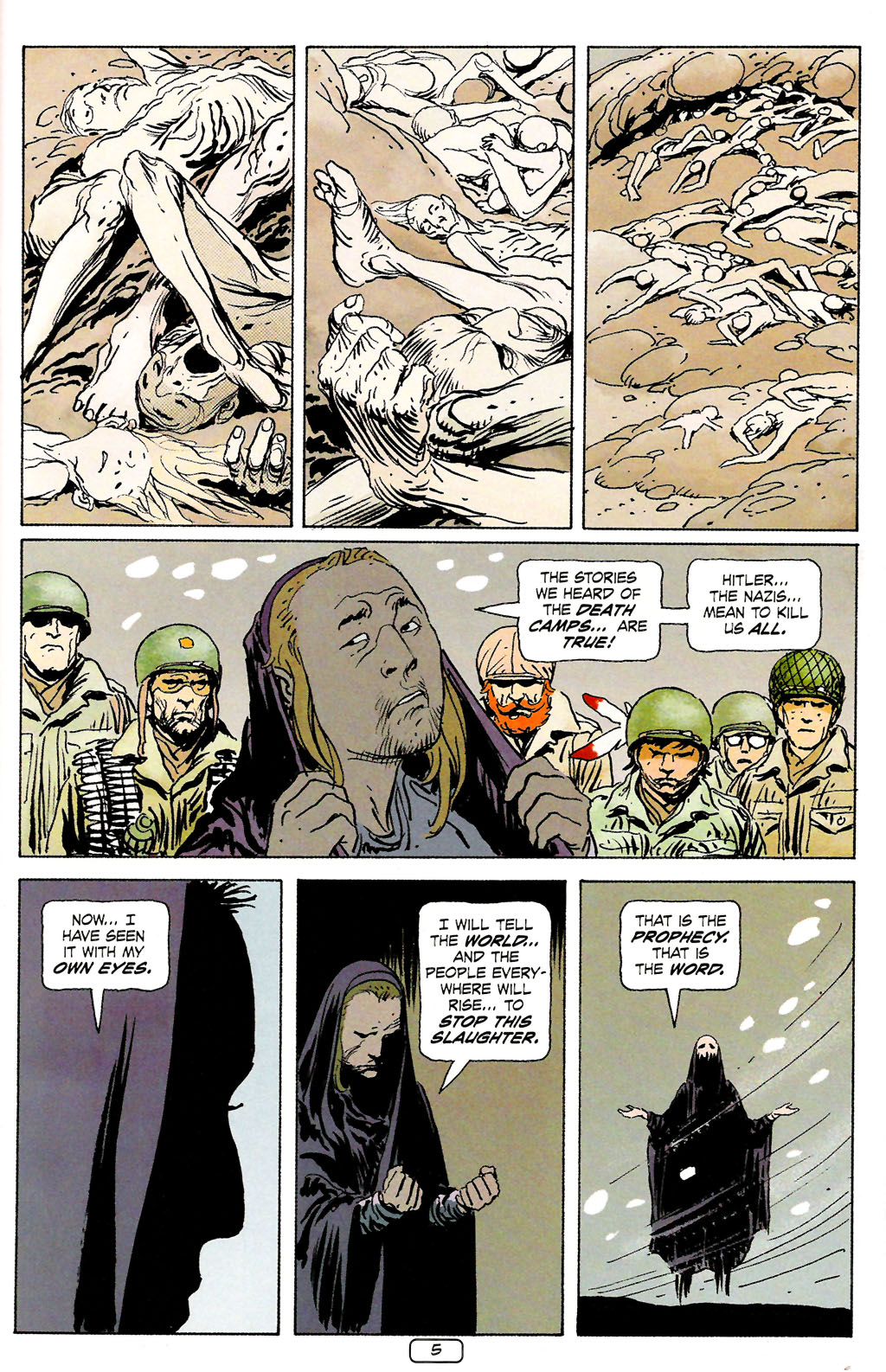 Read online Sgt. Rock: The Prophecy comic -  Issue #4 - 5
