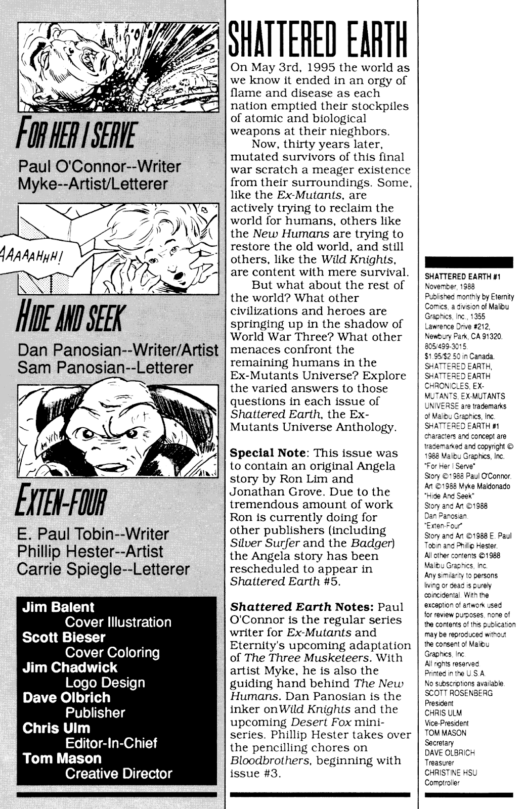 Shattered Earth issue 1 - Page 2