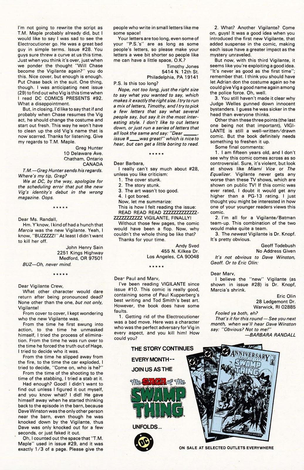 Vigilante (1983) issue 32 - Page 34