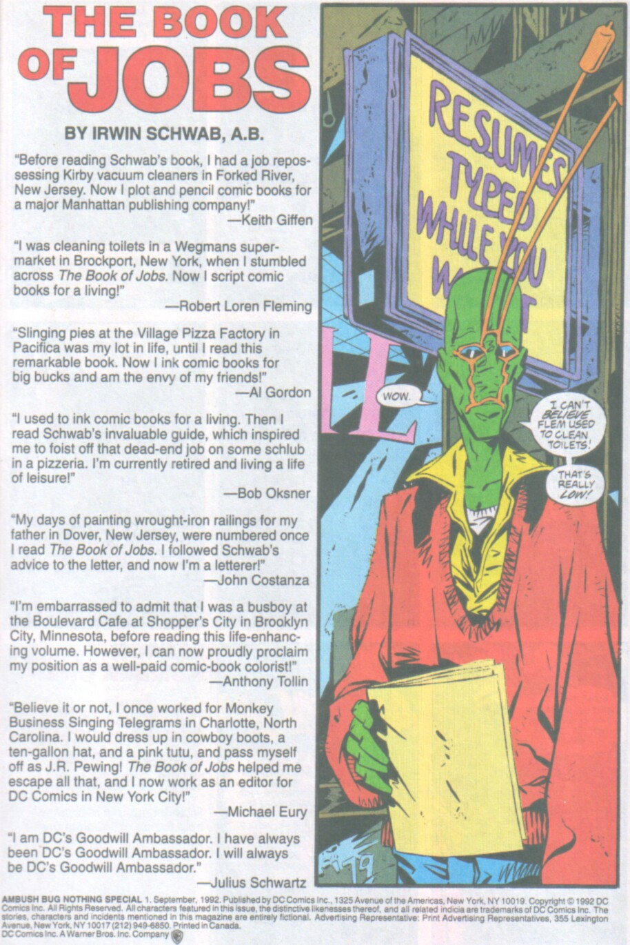 Read online Ambush Bug Nothing Special comic -  Issue # Full - 2