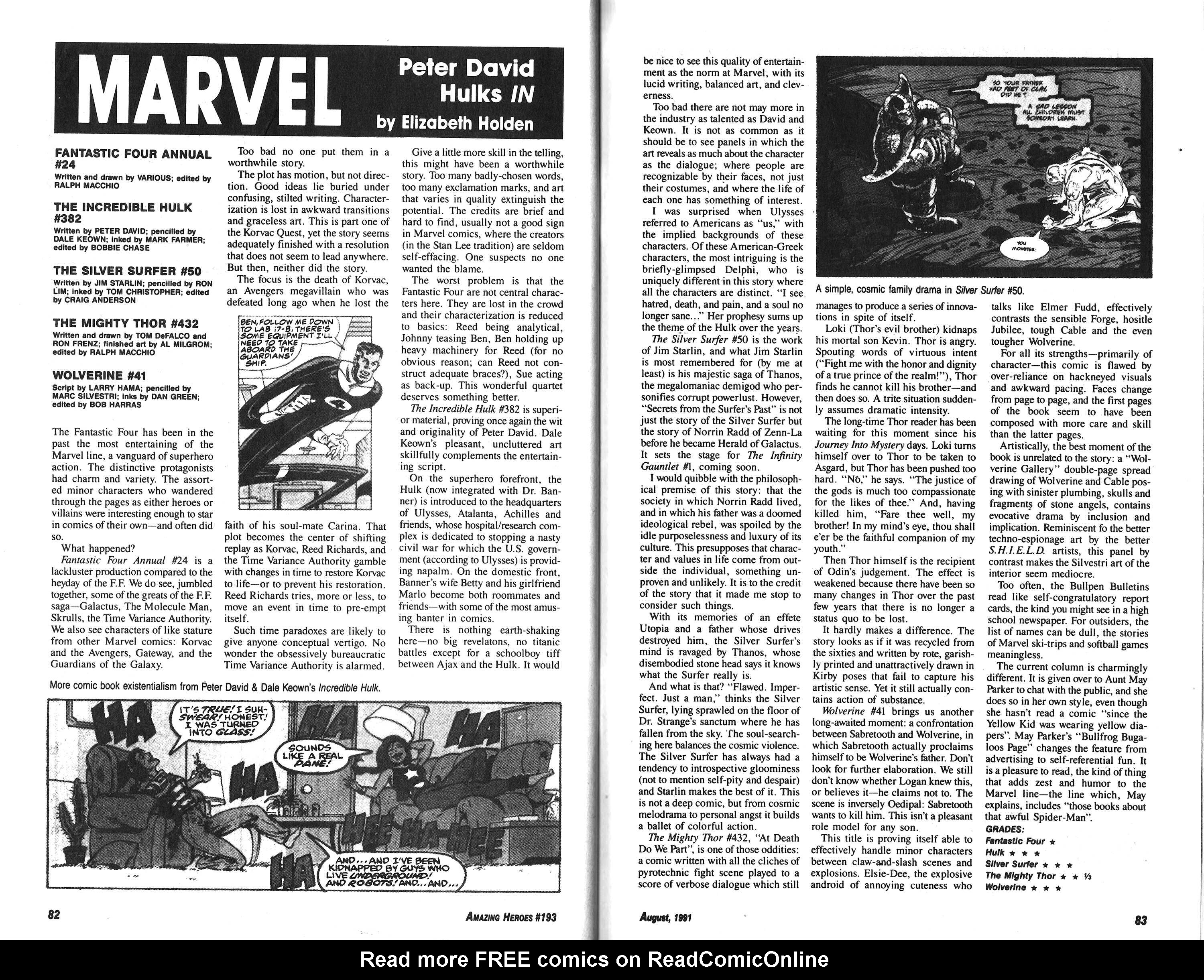 Read online Amazing Heroes comic -  Issue #193 - 42