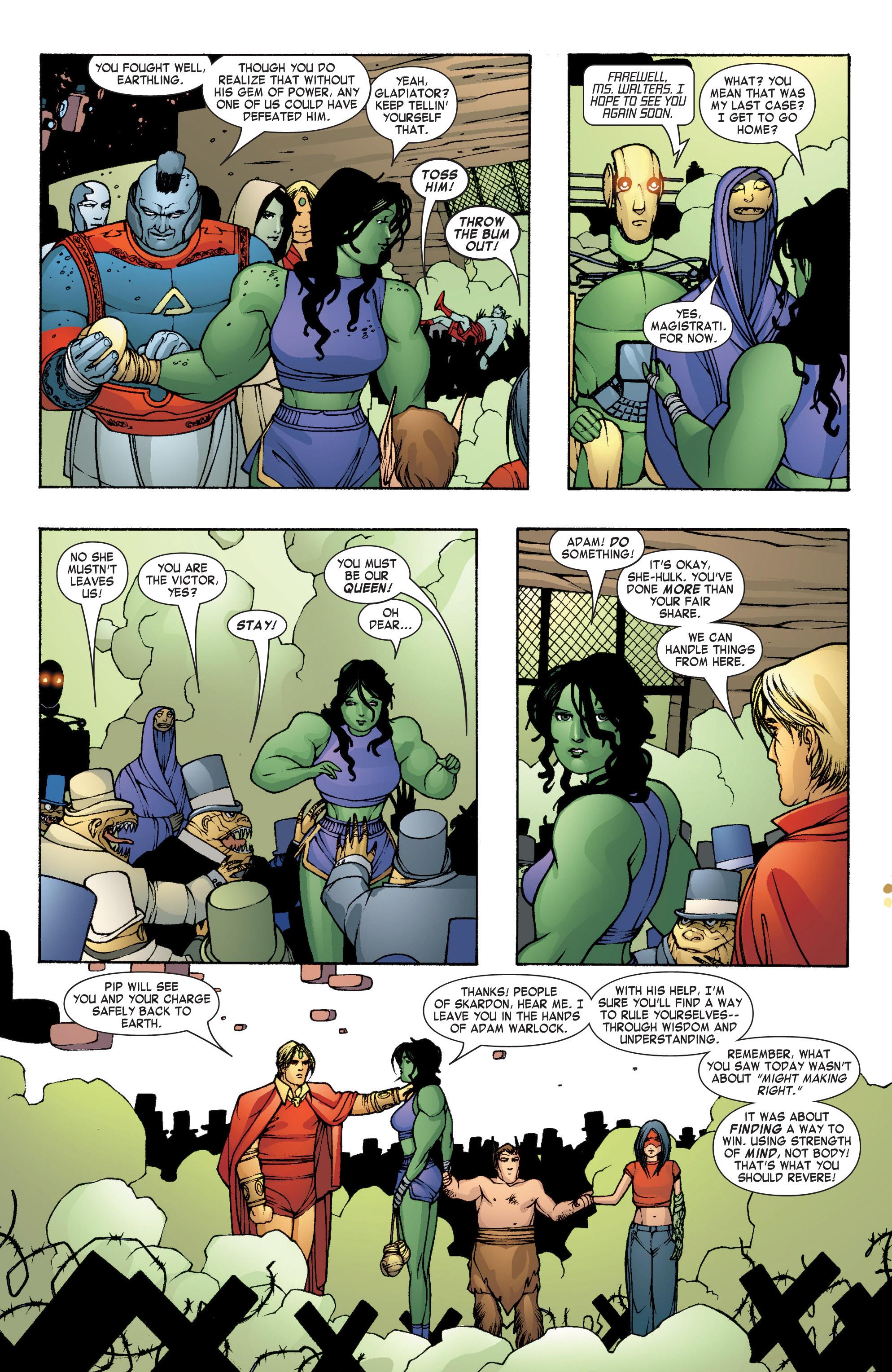 Read online She-Hulk (2004) comic -  Issue #8 - 23
