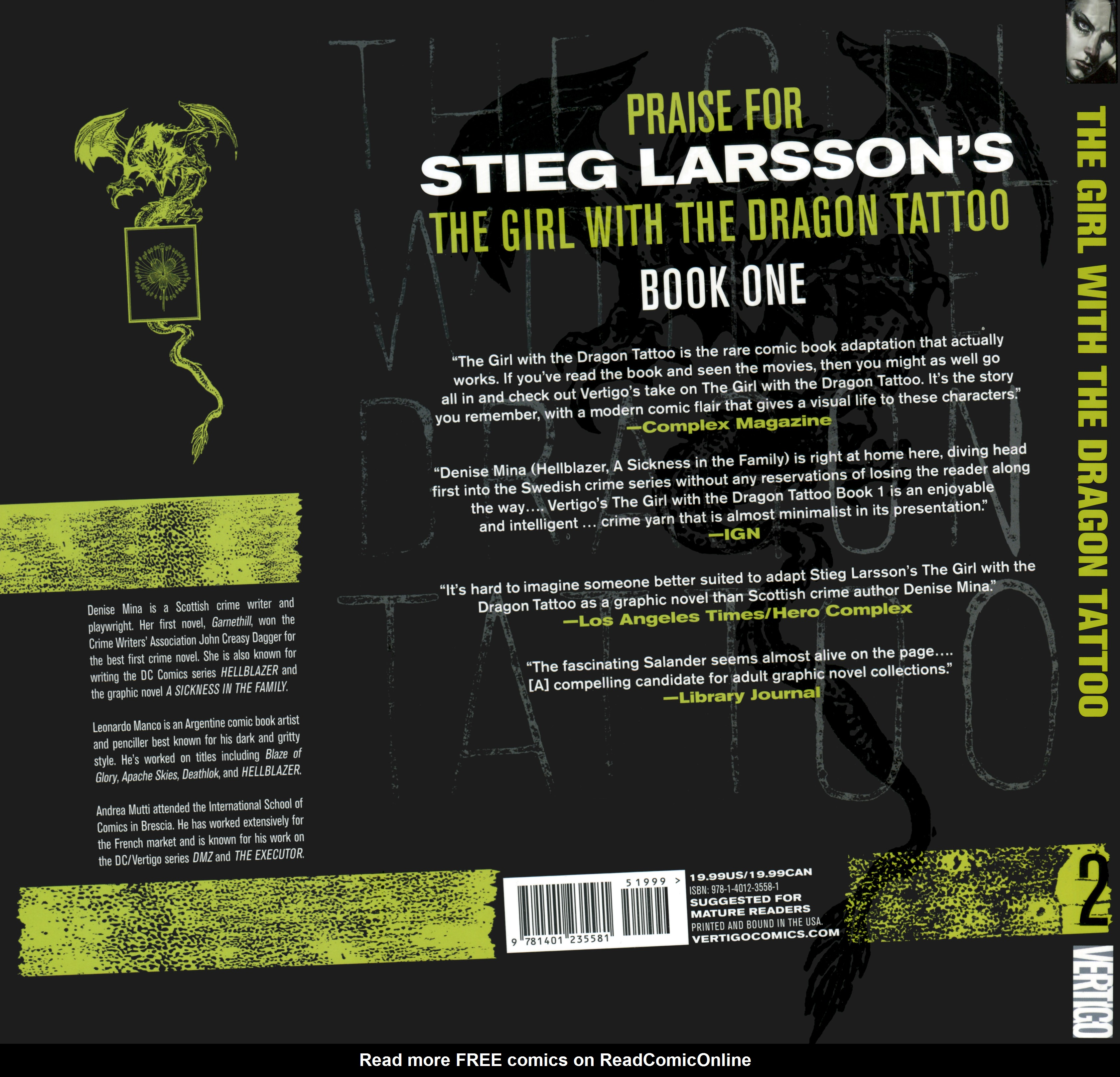 Read online The Girl With the Dragon Tattoo comic -  Issue # TPB 2 - 162