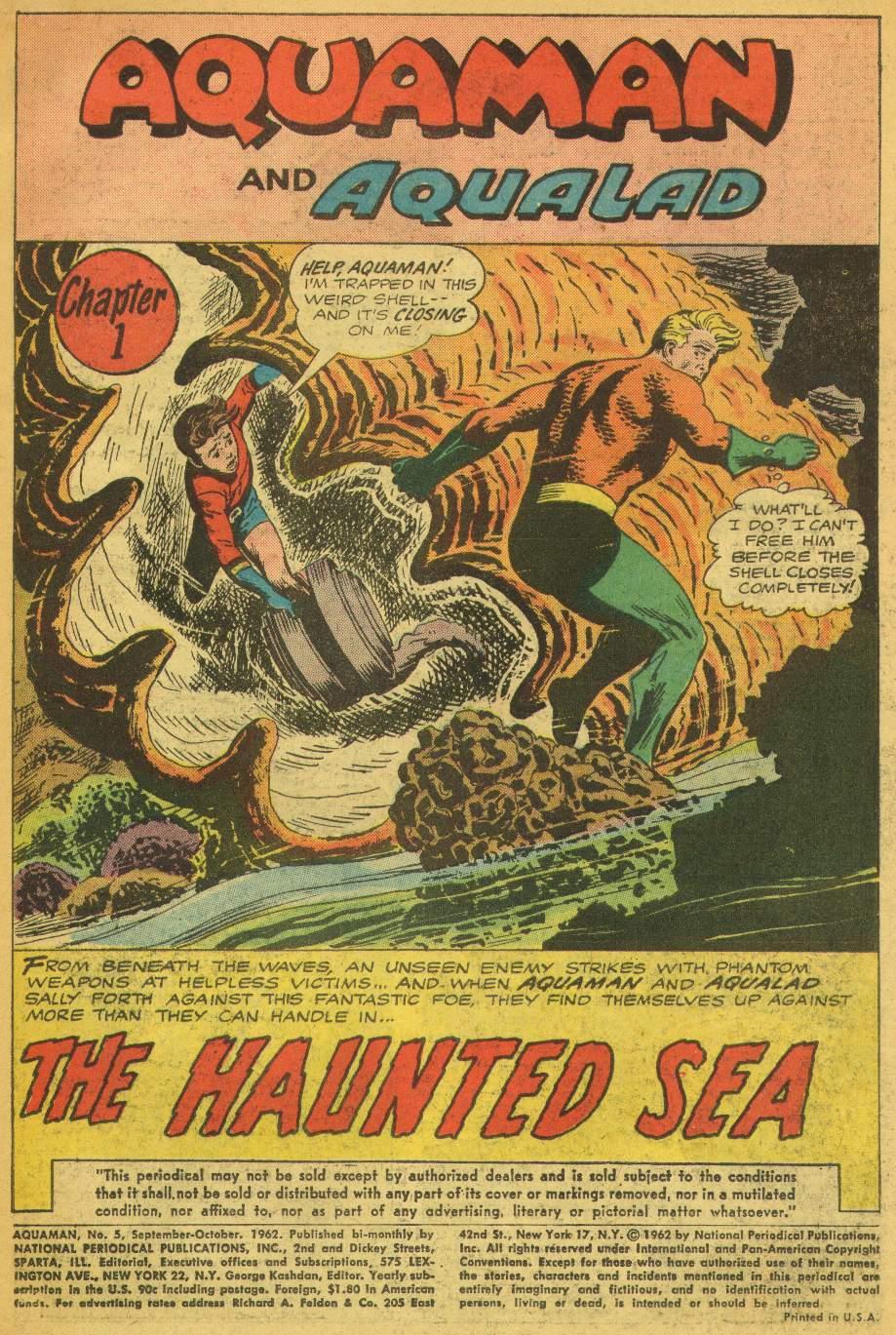 Read online Aquaman (1962) comic -  Issue #5 - 3