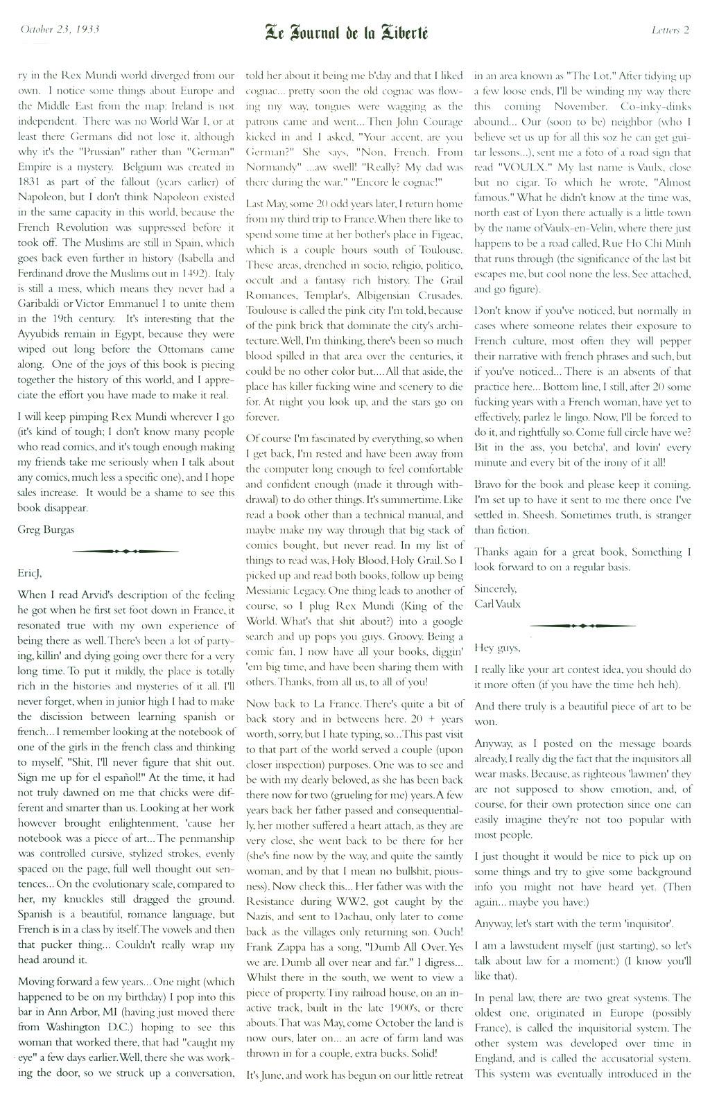 Read online Rex Mundi comic -  Issue #5 - 29