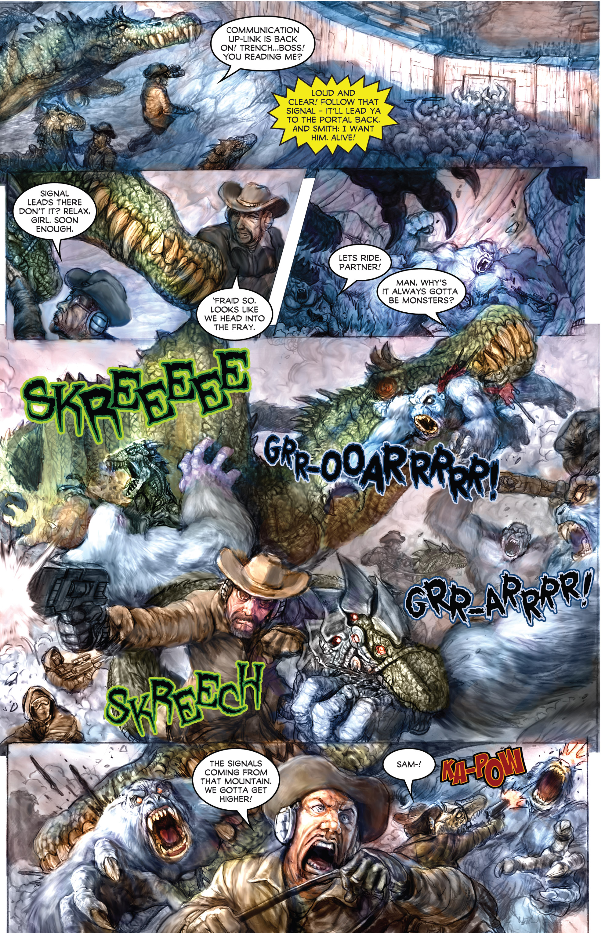 Read online American Mythology Dark: Werewolves vs Dinosaurs comic -  Issue #2 - 17