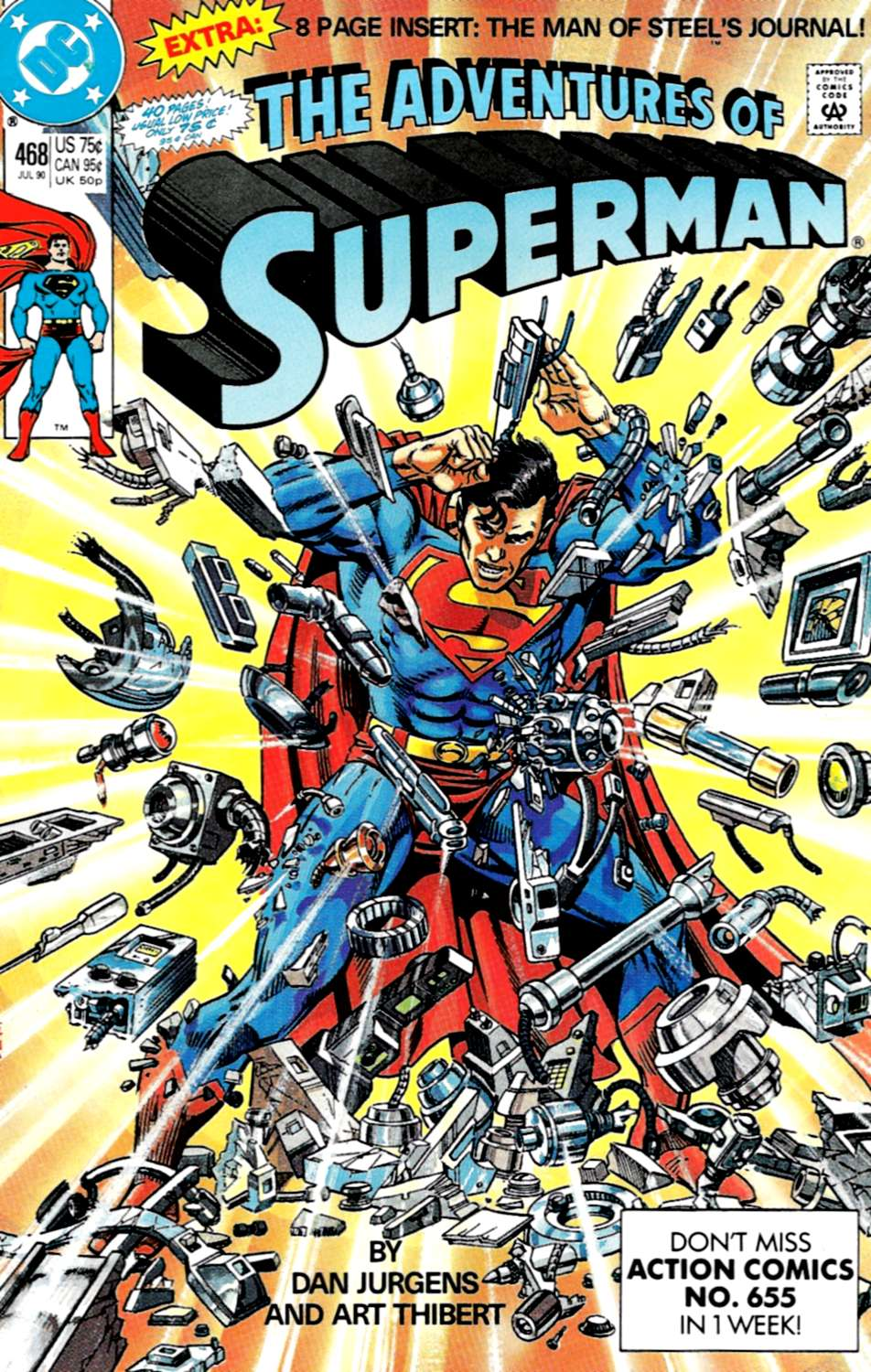 Read online Adventures of Superman (1987) comic -  Issue #468 - 1