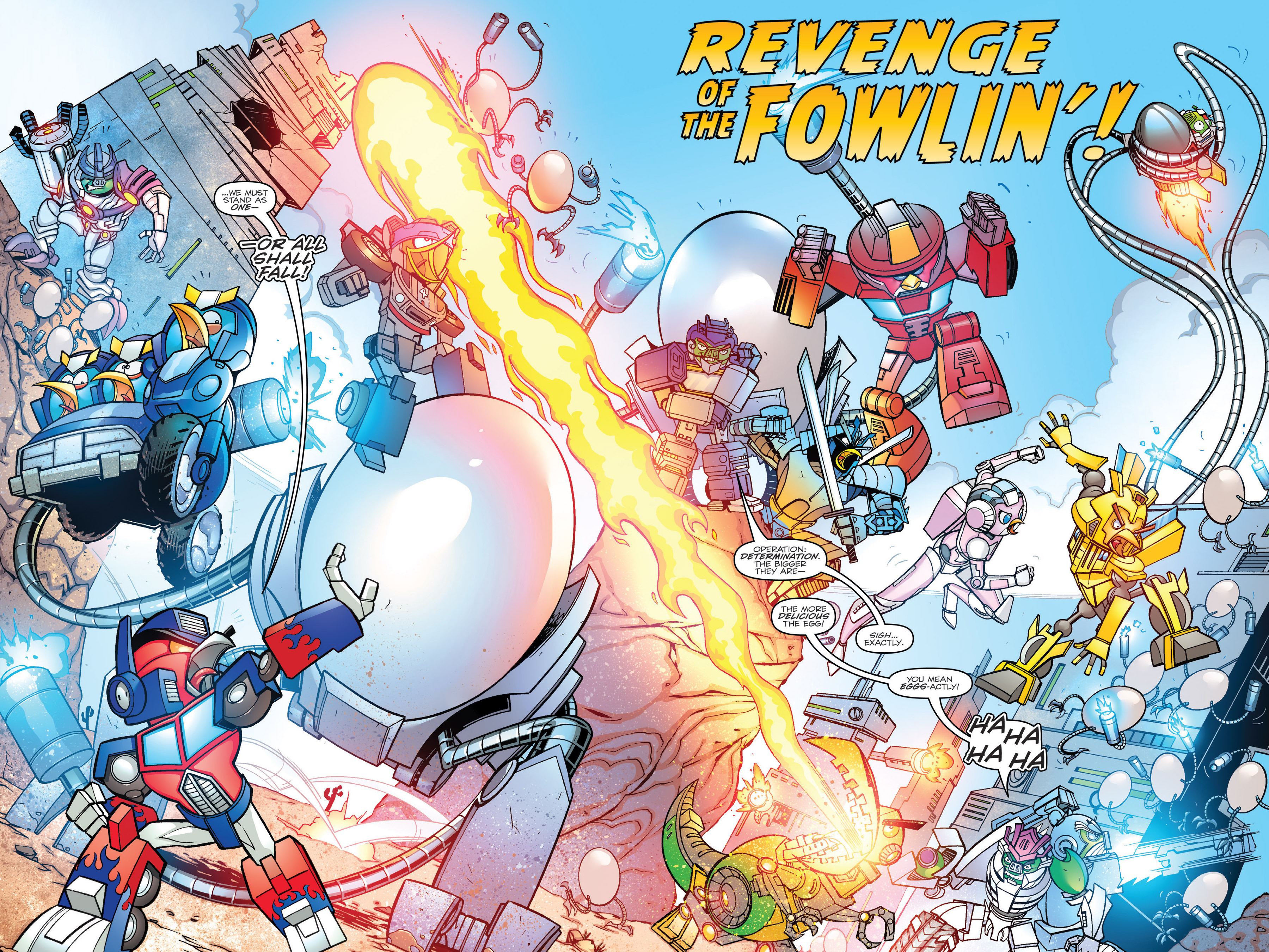 Read online Angry Birds Transformers: Age of Eggstinction comic -  Issue # Full - 51