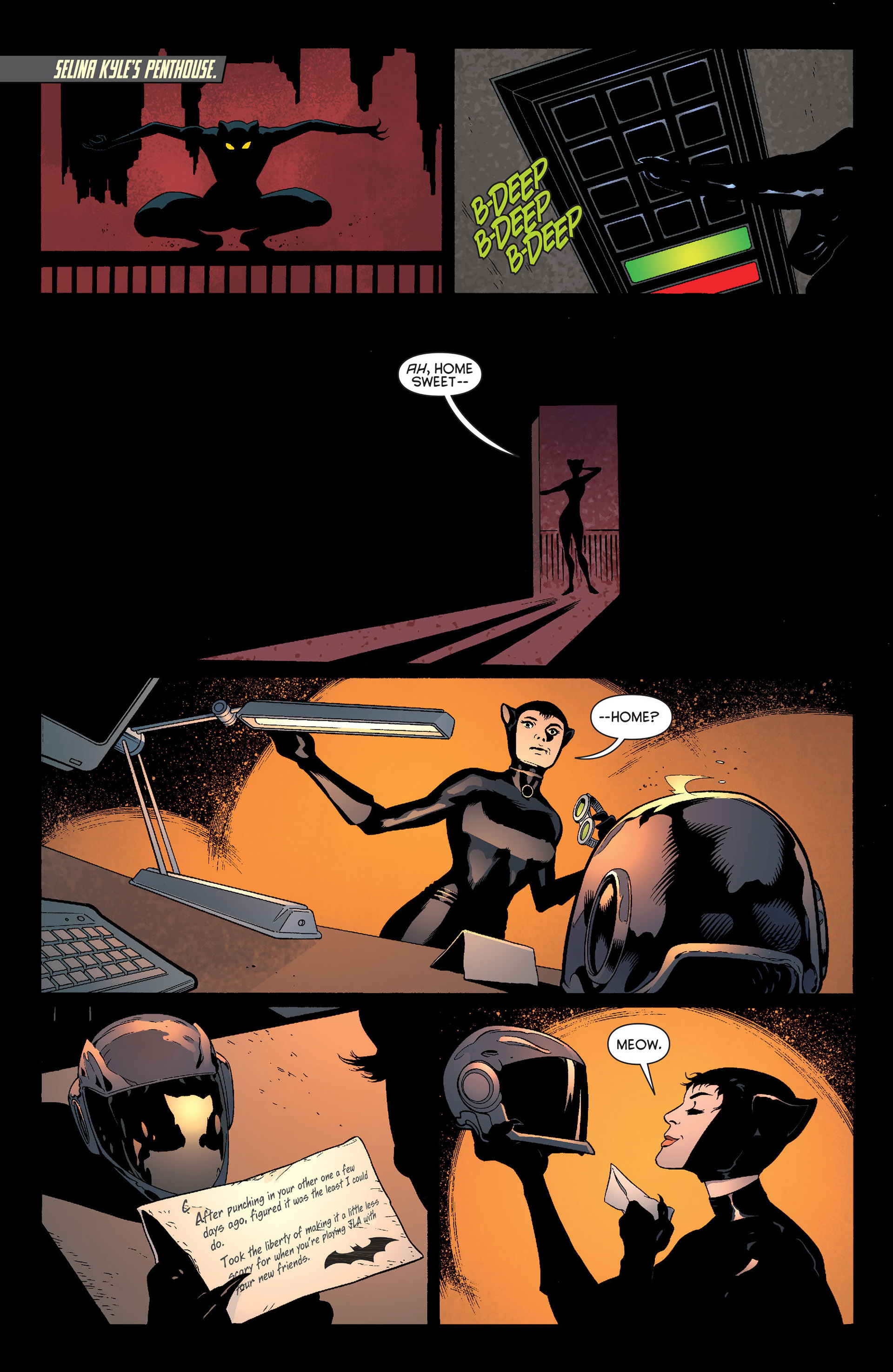 Read online Batman and Robin (2011) comic -  Issue #22 - Batman and Catwoman - 18