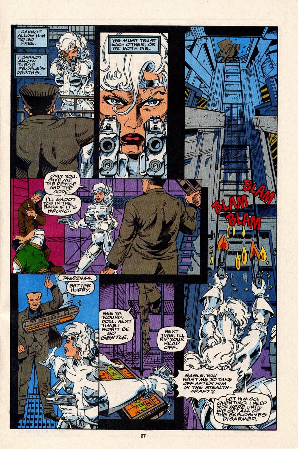 Read online Silver Sable and the Wild Pack comic -  Issue #32 - 21