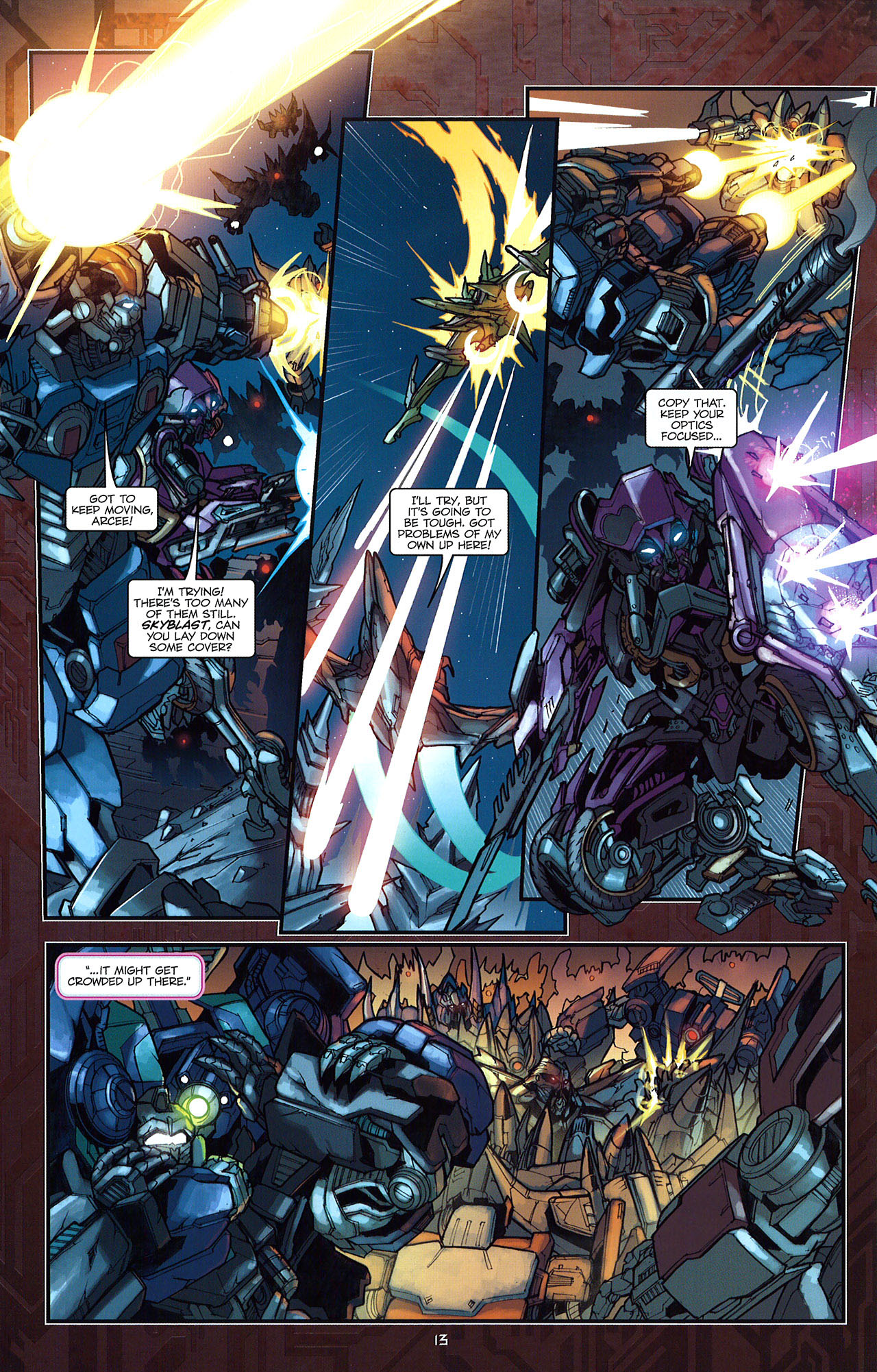 Read online Transformers: The Reign of Starscream comic -  Issue #5 - 16