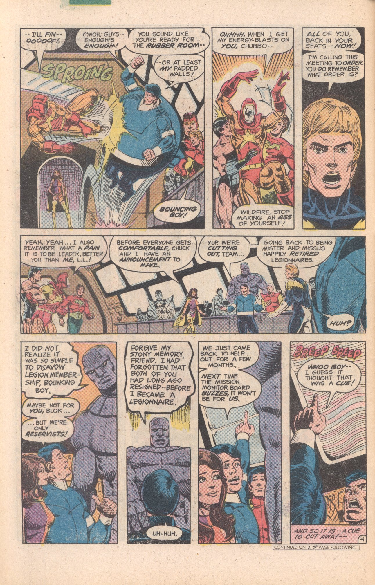 Legion of Super-Heroes (1980) 284 Page 4