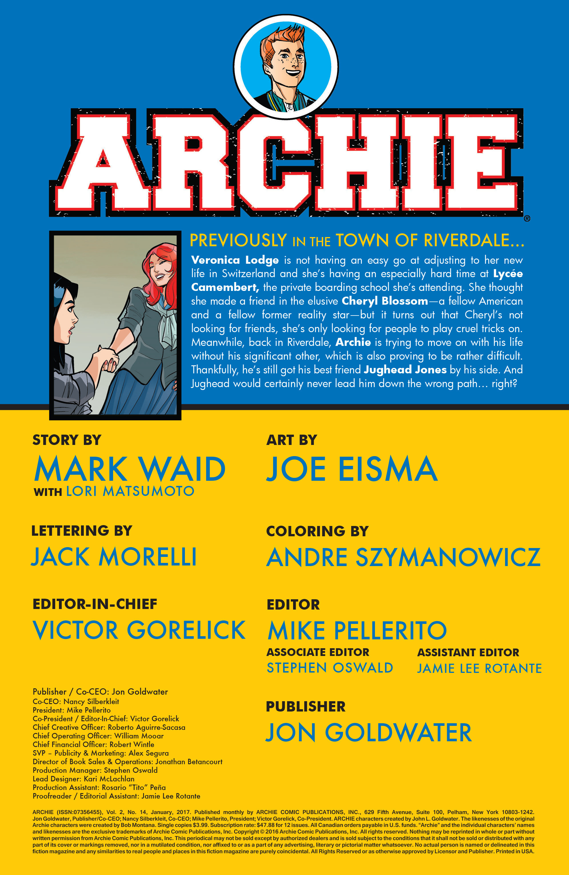 Read online Archie (2015) comic -  Issue #14 - 2