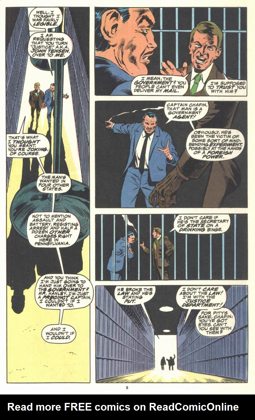 Read online Justice (1986) comic -  Issue #21 - 7
