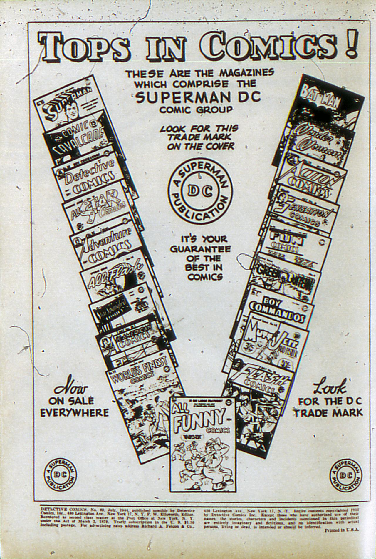 Read online Detective Comics (1937) comic -  Issue #89 - 2