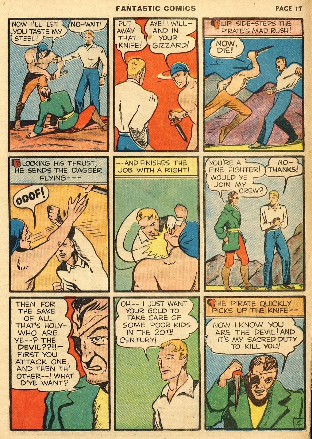 Read online Fantastic Comics comic -  Issue #10 - 18