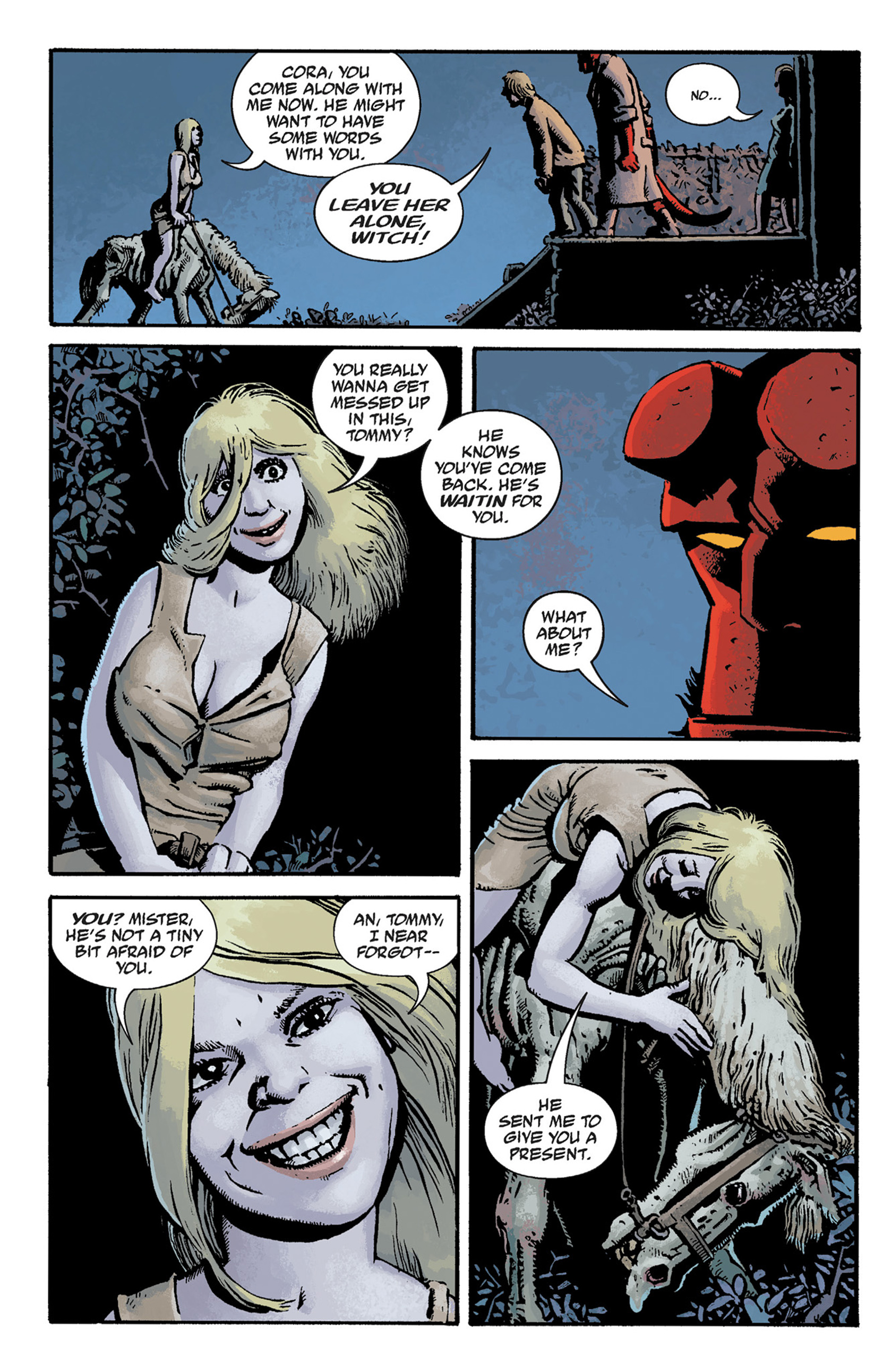 Read online Hellboy: The Crooked Man and Others comic -  Issue # TPB - 28