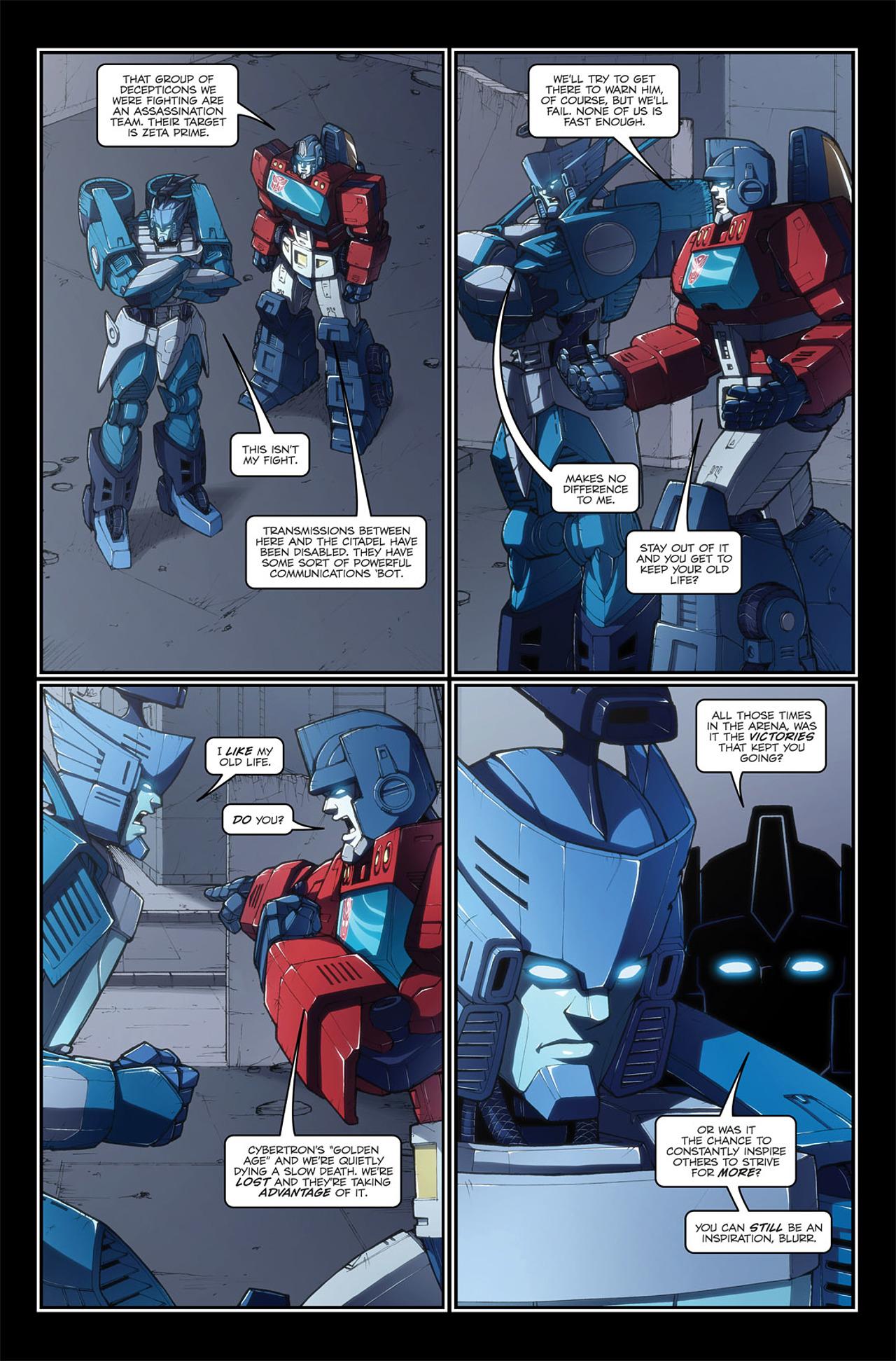 Read online Transformers Spotlight: Blurr comic -  Issue # Full - 22