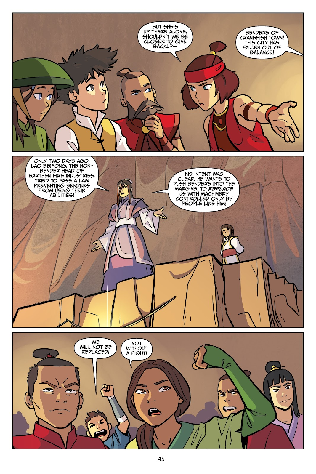 Read online Nickelodeon Avatar: The Last Airbender - Imbalance comic -  Issue # TPB 2 - 46