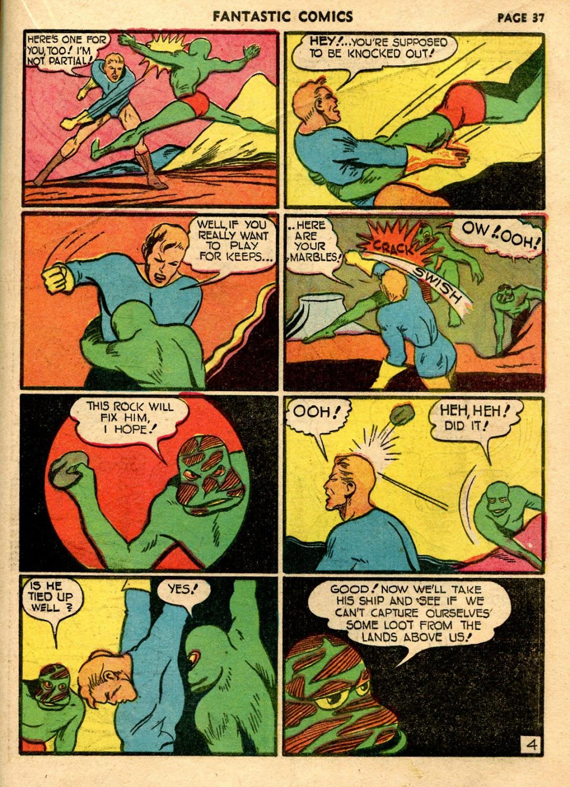 Read online Fantastic Comics comic -  Issue #21 - 35