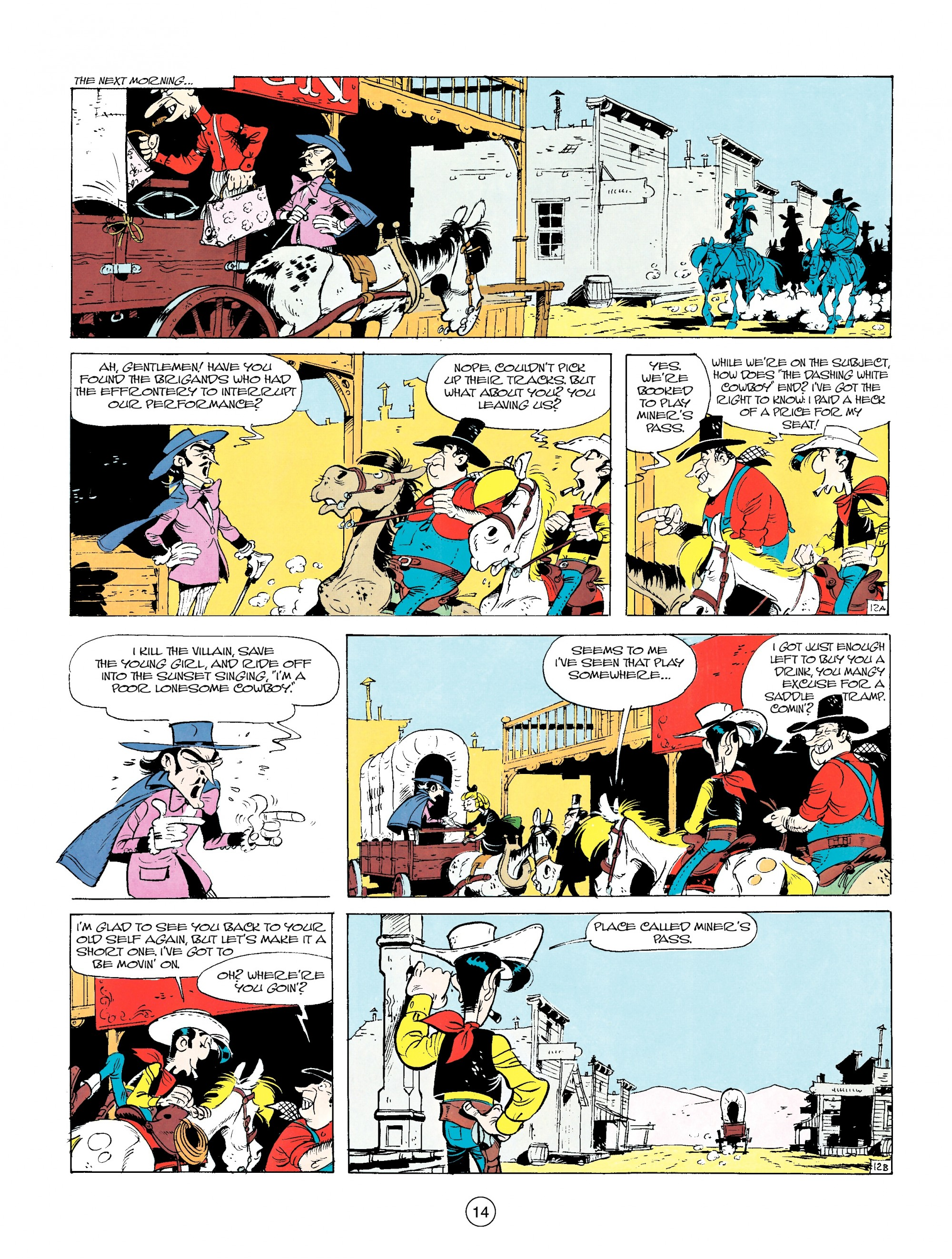 Read online A Lucky Luke Adventure comic -  Issue #14 - 14