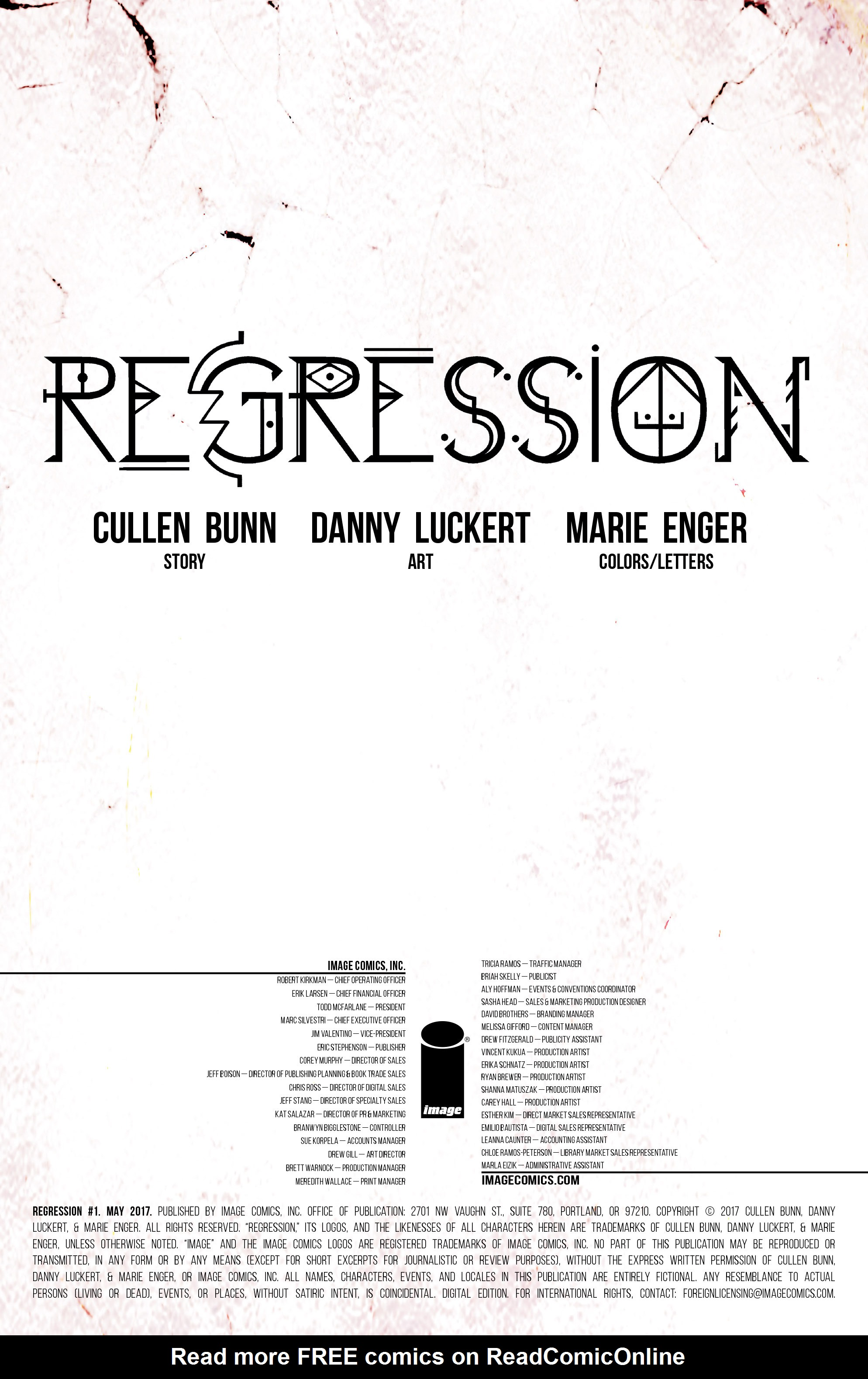 Read online Regression comic -  Issue #1 - 2