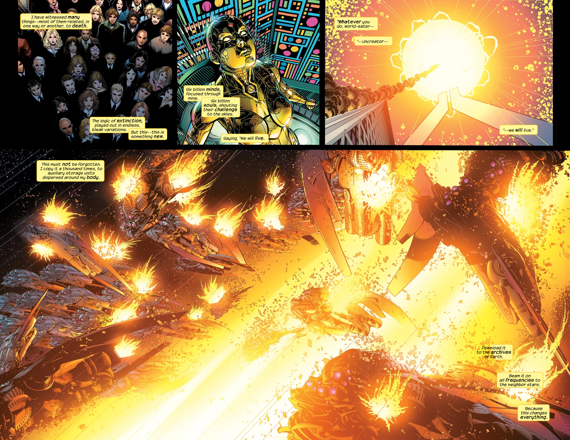 Read online Ultimate Vision comic -  Issue #1 - 4