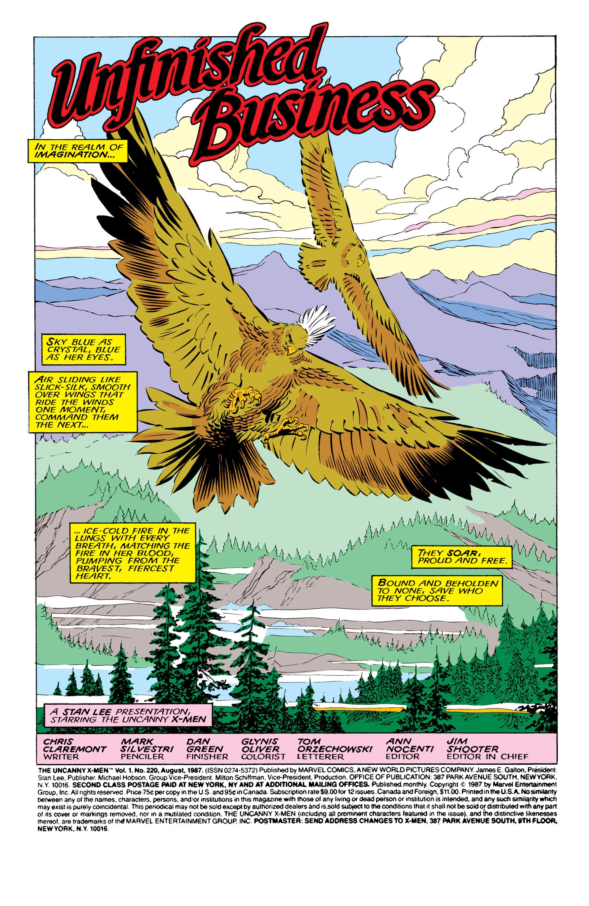 Read online Uncanny X-Men (1963) comic -  Issue #220 - 2