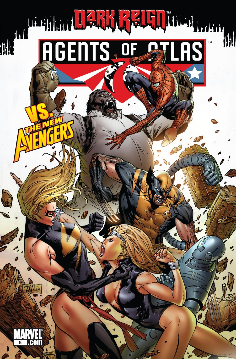 Read online Agents Of Atlas (2009) comic -  Issue #5 - 1