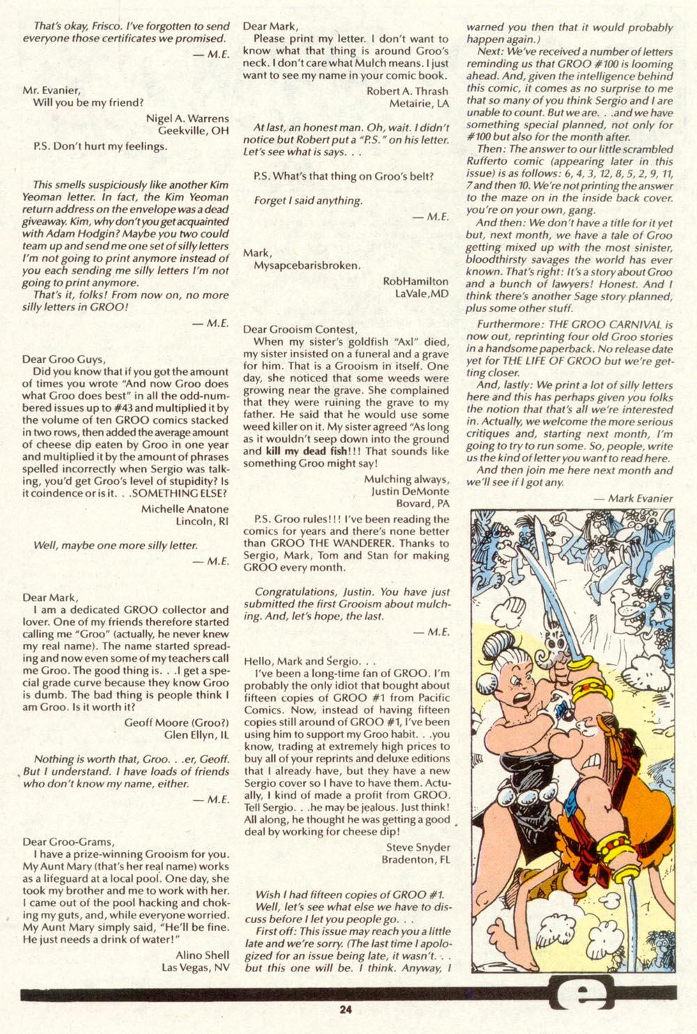 Read online Sergio Aragonés Groo the Wanderer comic -  Issue #89 - 25