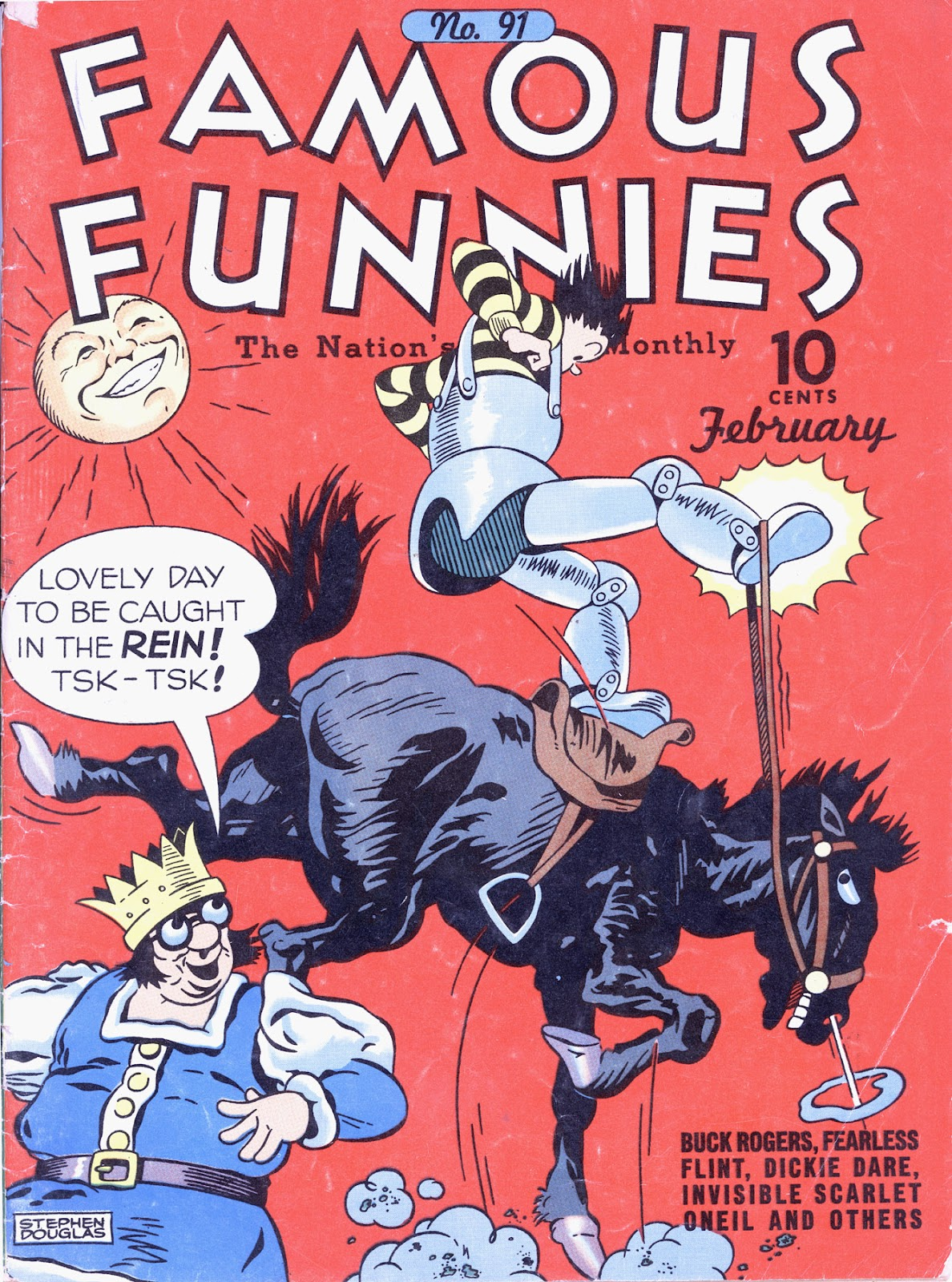 Read online Famous Funnies comic -  Issue #91 - 1