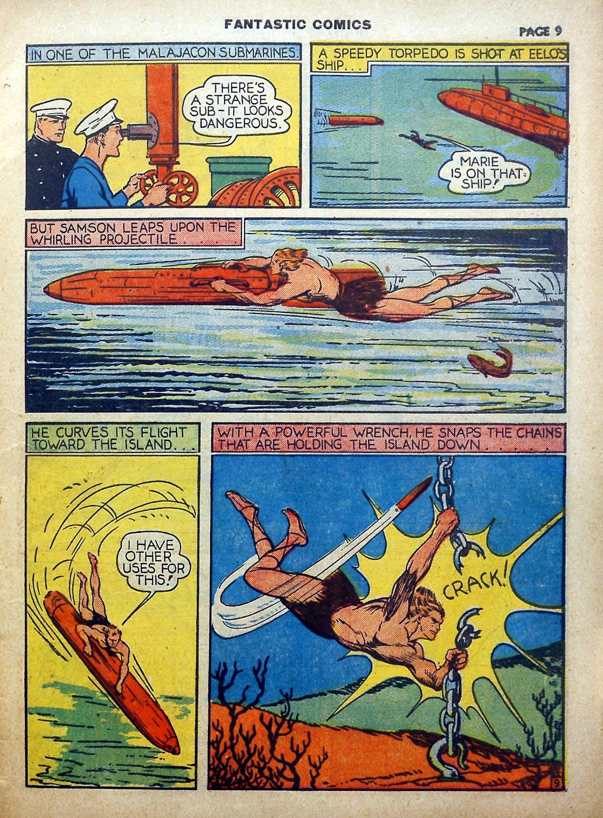 Read online Fantastic Comics comic -  Issue #5 - 10