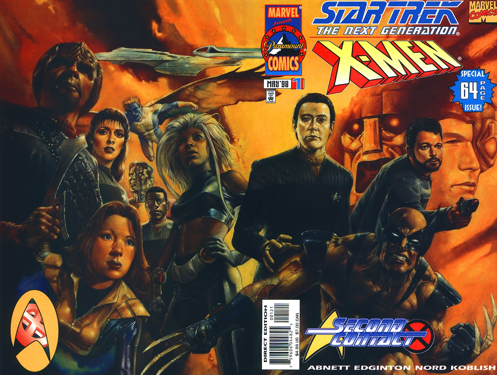 Star Trek: The Next Generation/X-Men: Second Contact issue Full - Page 1