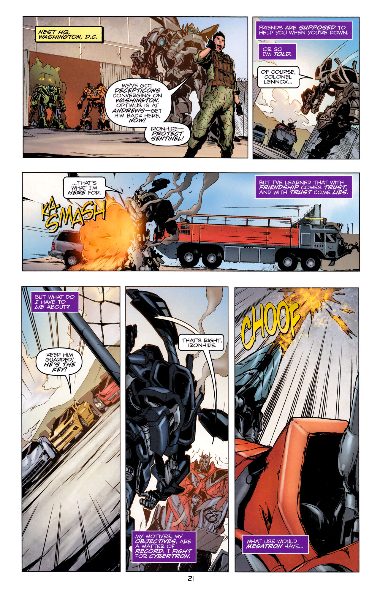 Read online Transformers: Dark of the Moon Movie Adaptation comic -  Issue #2 - 23