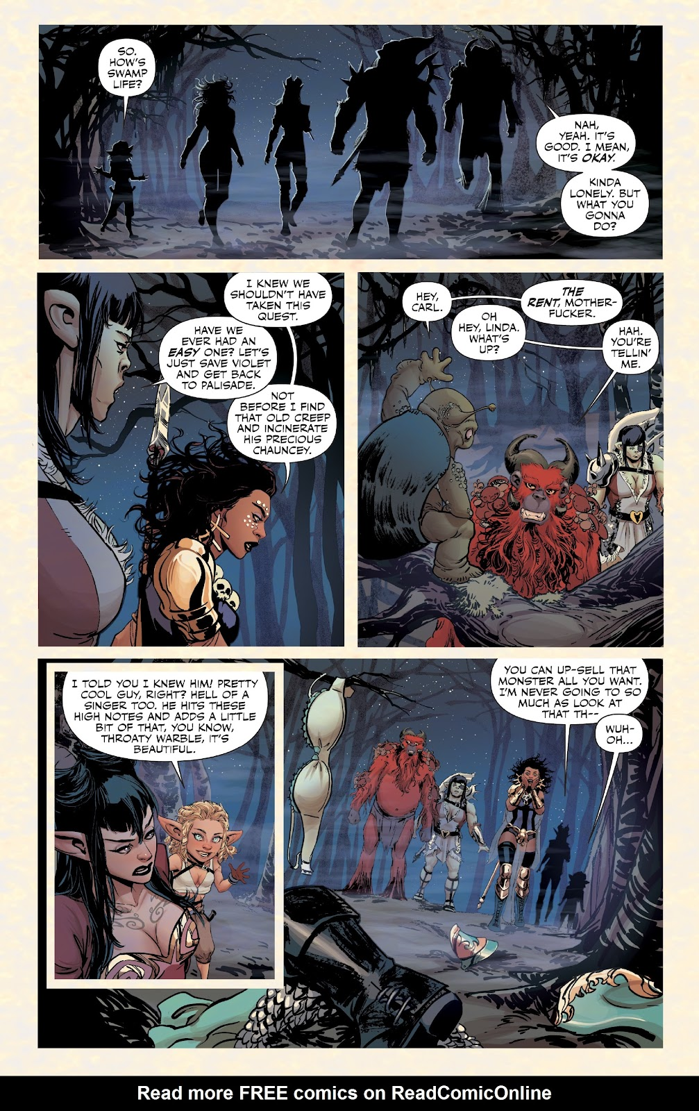 Read online Rat Queens Special: Swamp Romp comic -  Issue # Full - 16