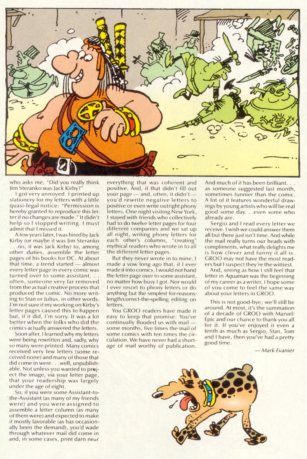 Read online Sergio Aragonés Groo the Wanderer comic -  Issue #120 - 31