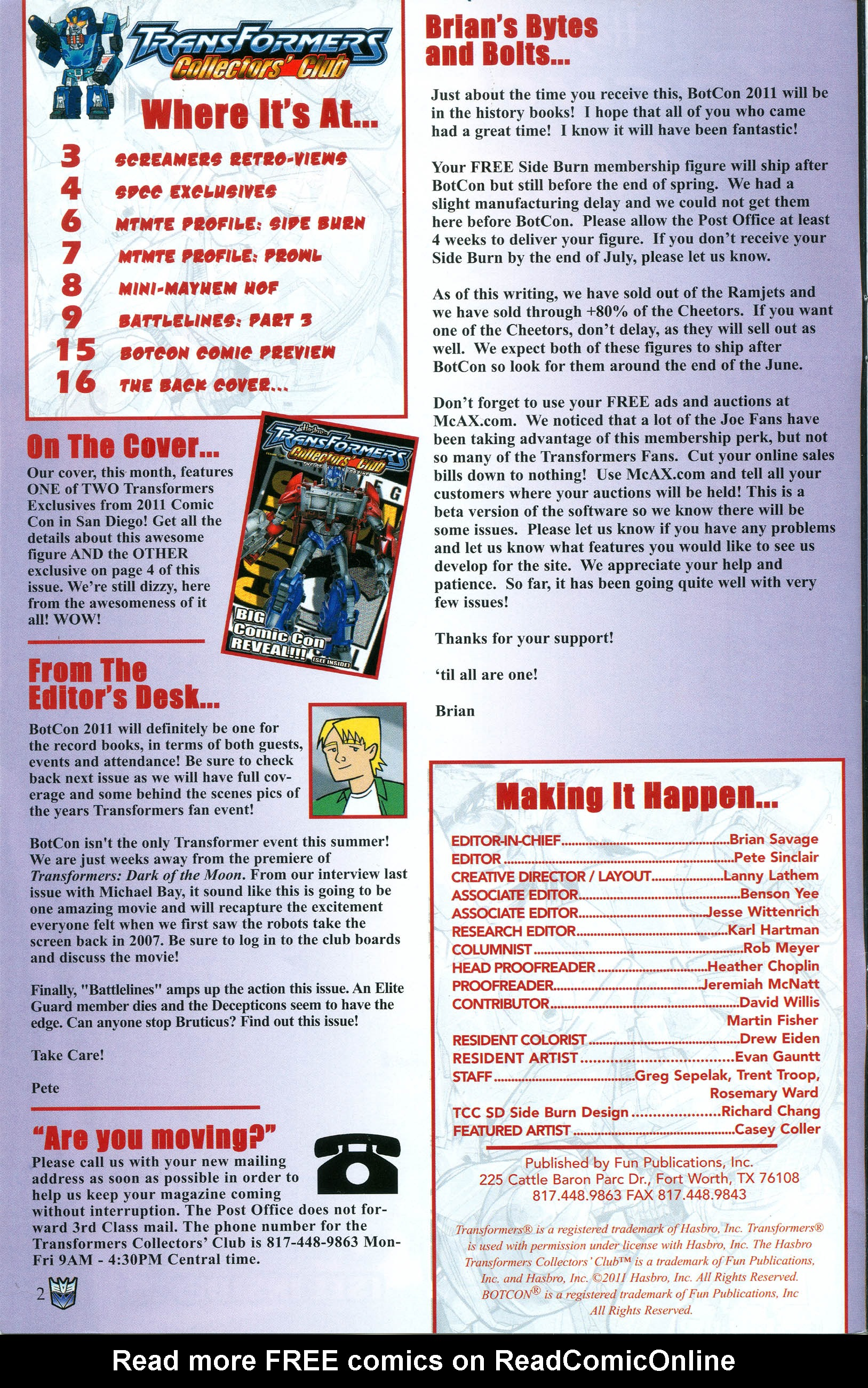 Read online Transformers: Collectors' Club comic -  Issue #39 - 2