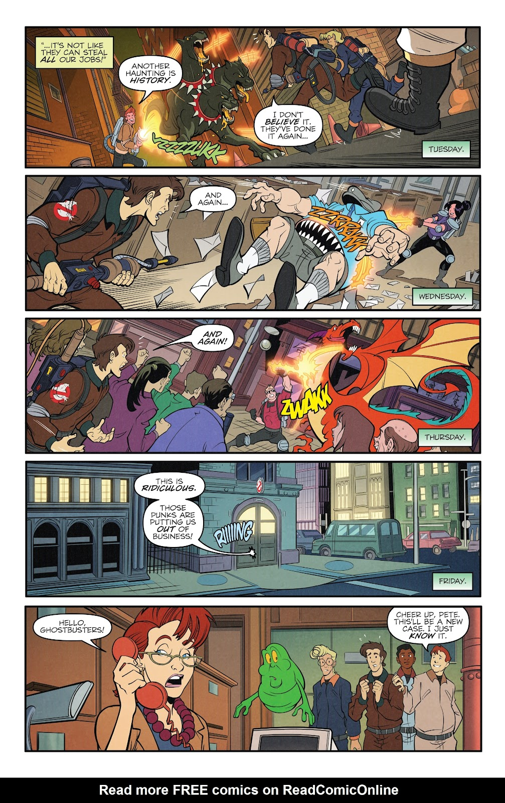 Read online Ghostbusters 35th Anniversary: The Real Ghostbusters comic -  Issue # Full - 11