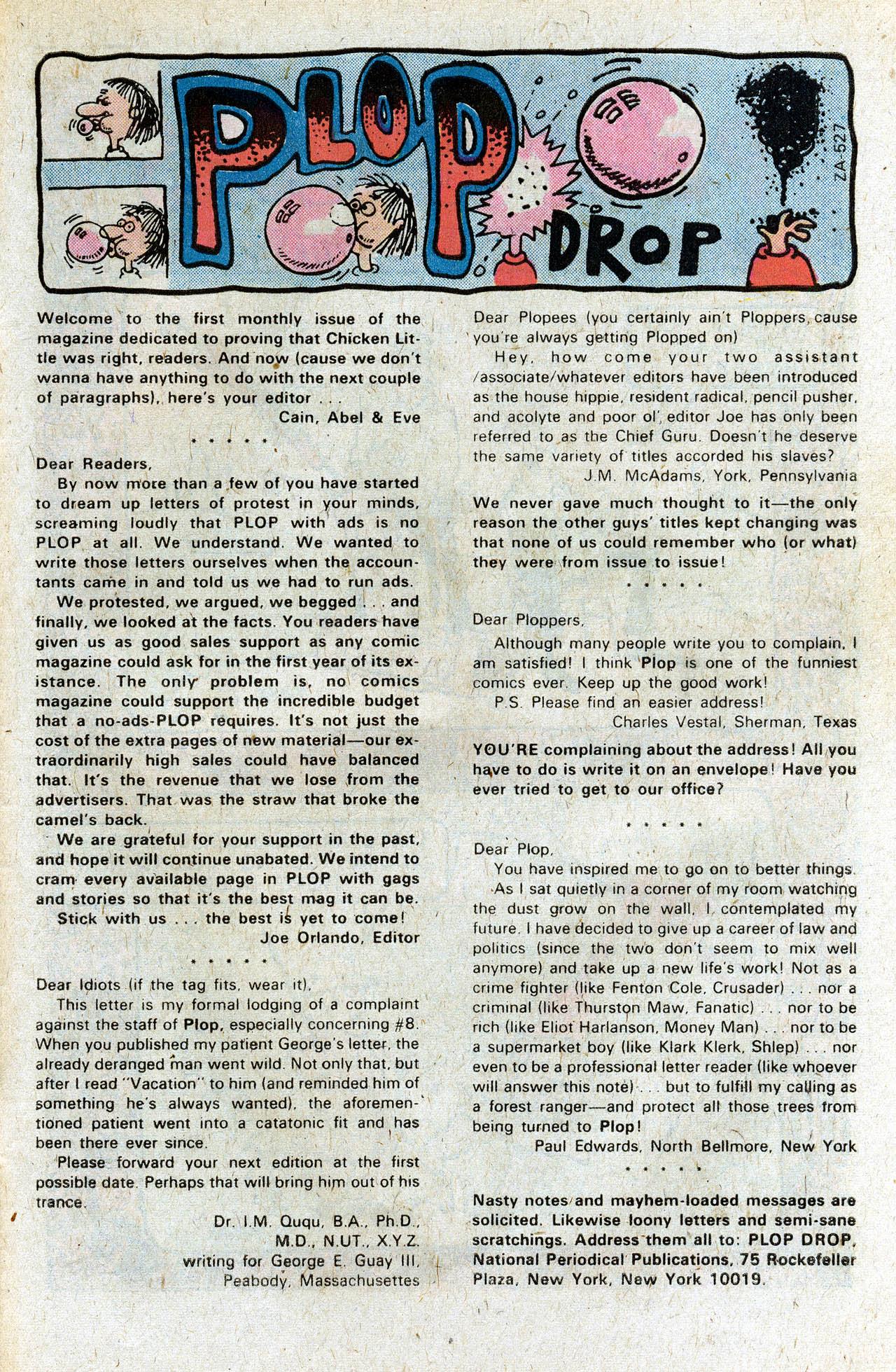 Read online Plop! comic -  Issue #11 - 27