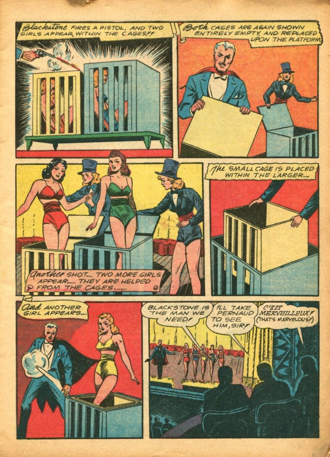 Read online Super-Magician Comics comic -  Issue #5 - 7