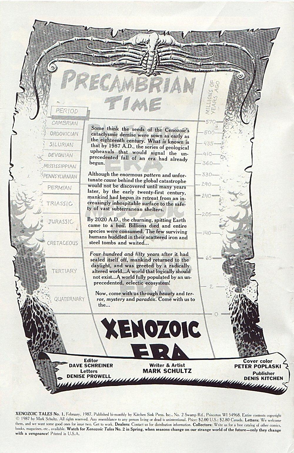 Read online Xenozoic Tales comic -  Issue #1 - 3