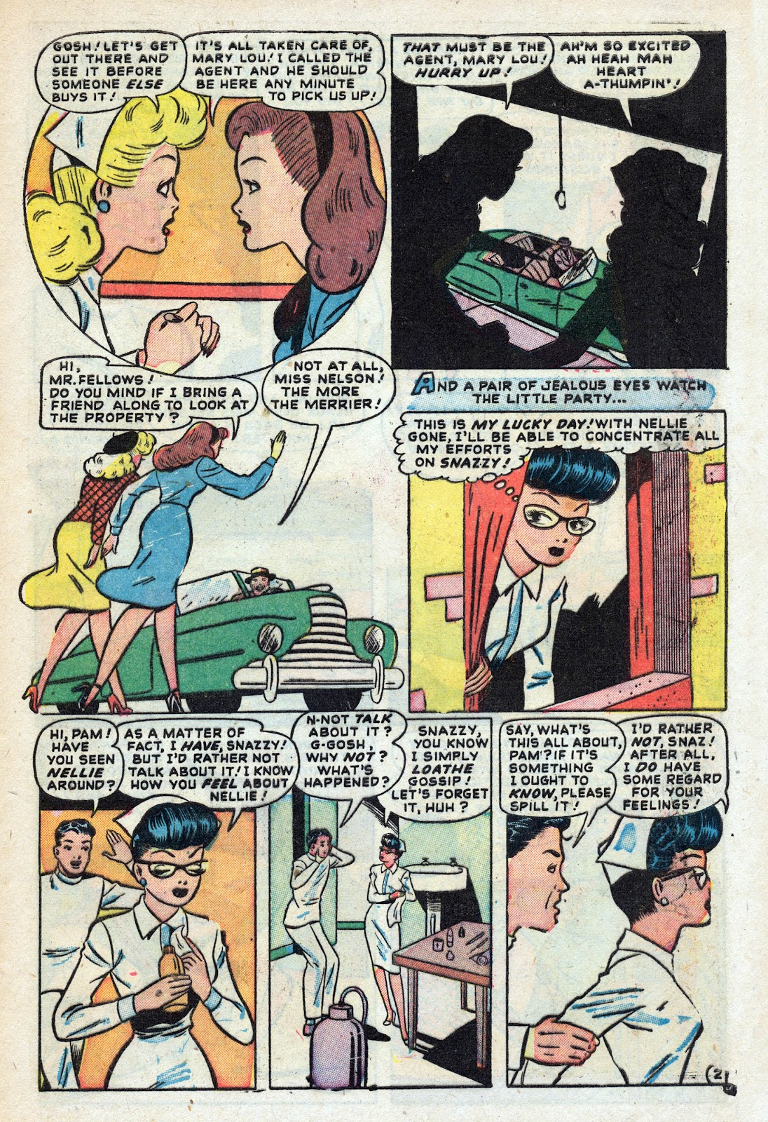 Read online Nellie The Nurse (1945) comic -  Issue #17 - 11