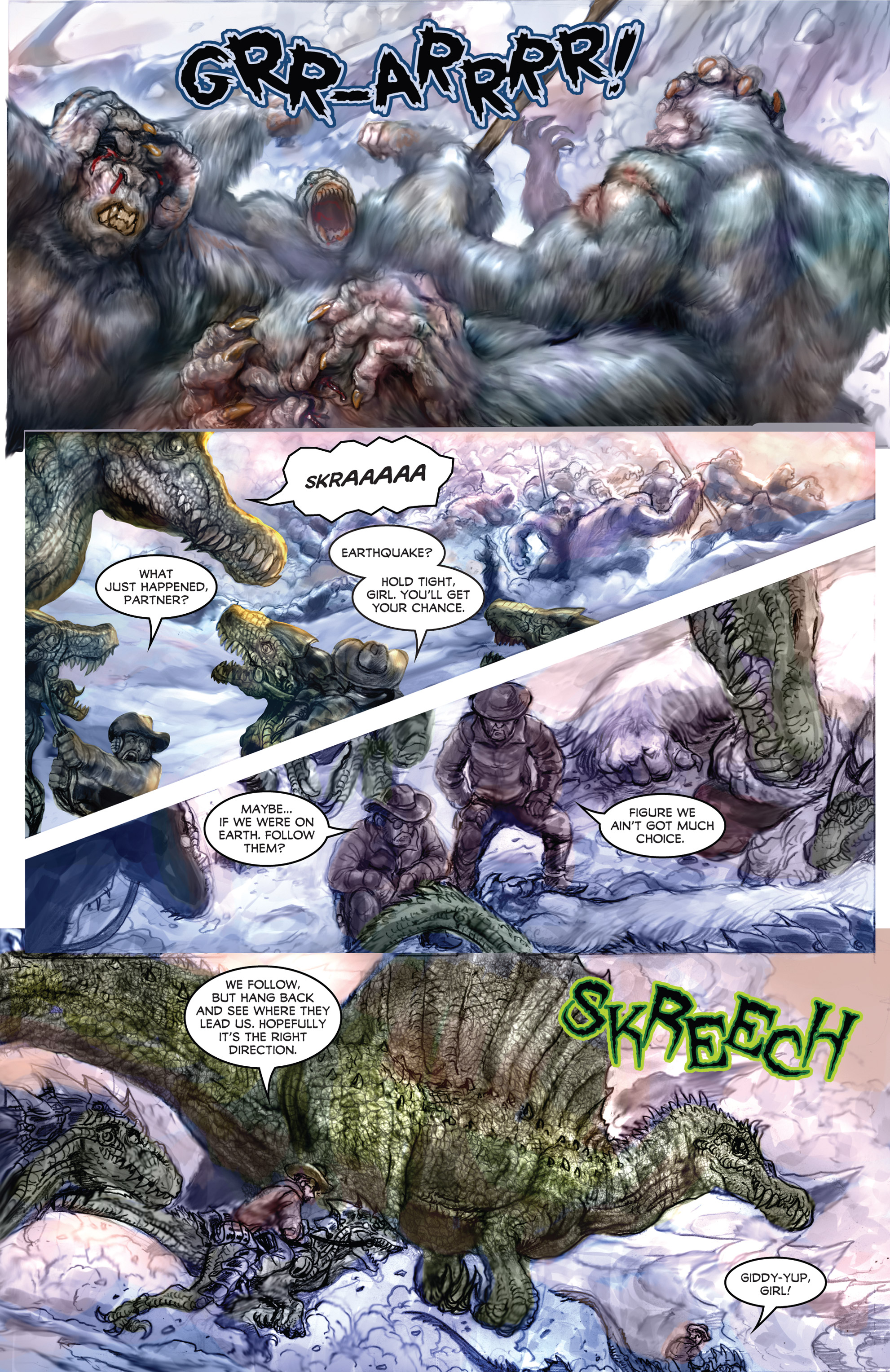 Read online American Mythology Dark: Werewolves vs Dinosaurs comic -  Issue #2 - 14