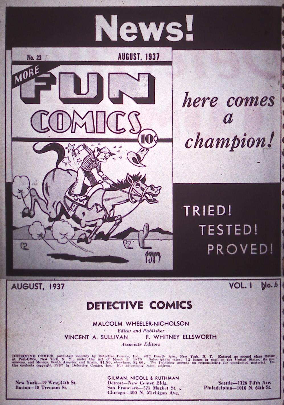 Detective Comics (1937) 6 Page 1
