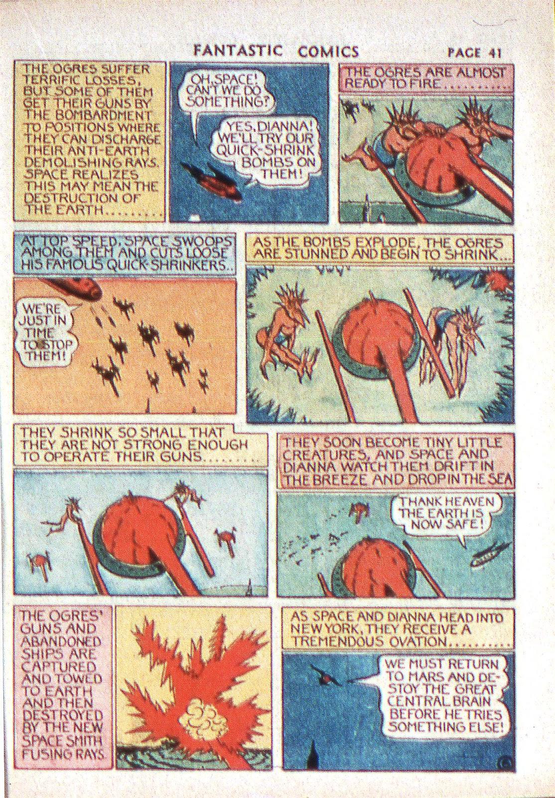 Read online Fantastic Comics comic -  Issue #2 - 42