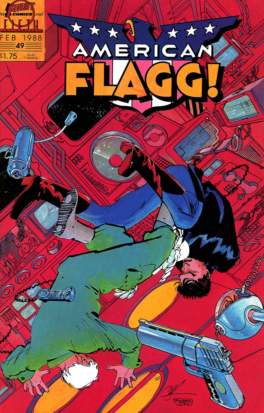 Read online American Flagg! comic -  Issue #49 - 1